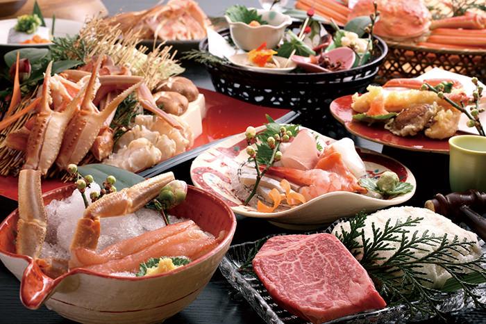 冬色♪塩釜と魚と松葉ガニ♪